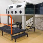 tryskací kabina velká s protahovacími otvory