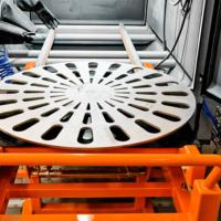 pískovací zařízení s vyjížděcí točnou