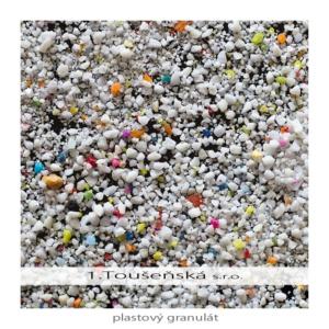 tryskací prostředek plastový granulát