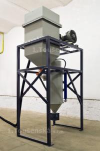 pneumatická dopravní jednotka abraziva pro pískovačky typ 2