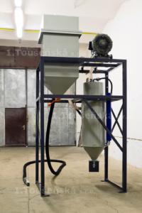 pneumatická dopravní jednotka abraziva pro pískovací boxy