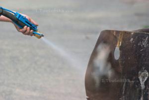 mobilní pískování se skrápěním vodou