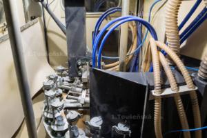 pracovní prostor karuselového tryskače