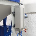 mikrotryskač namontovaný na pískovačku