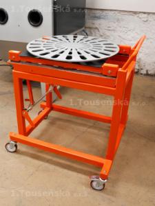 vyjížděcí točna tryskací kabiny s vozíkem