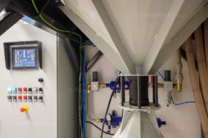 dotyková obrazovka ovládání tryskací komory